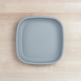 """Grey Large 9"""" Re-Play Flat Plate"""