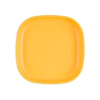 """Sunny Yellow Large 9"""" Re-Play Flat Plate"""