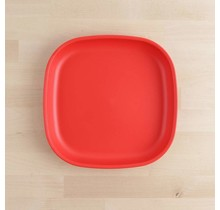 """Red Large 9"""" Re-Play Flat Plate"""