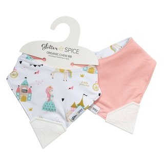 Enchanted Kingdom/Forever Pink Double-sided Chew Bib