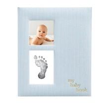 Blue Seersucker Baby Book