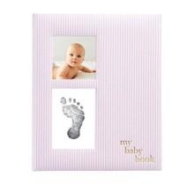Pink Seersucker Baby Book