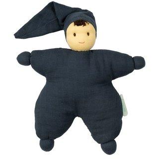 Navy Hoppa Sarah Organic Muslin Bonding Doll