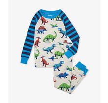 Friendly Dinos Organic Raglan Pajama Set