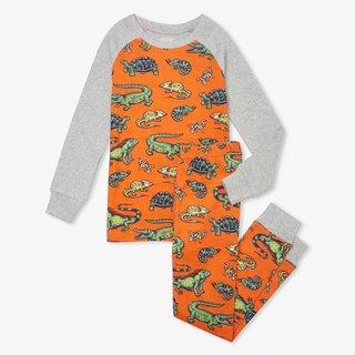 Aquatic Reptiles Organic Raglan Pajama Set