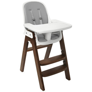 Sprout Highchair, Walnut with Grey