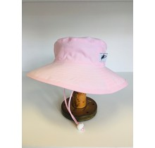 5-10 y Pink Cotton Oxford Sunbaby Hat