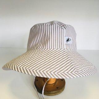 2-5 y Grey Natty Stripe Sunbaby Hat