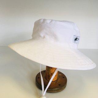 12-24m White Cotton Oxford Sunbaby Hat