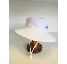 6-12m White Cotton Oxford Sunbaby Hat