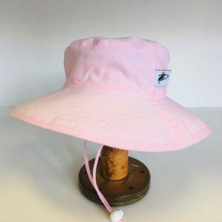 6-12m Pink Cotton Oxford Sunbaby Hat