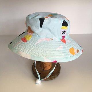 6-12m Mint Ice Cream Sunbaby Hat