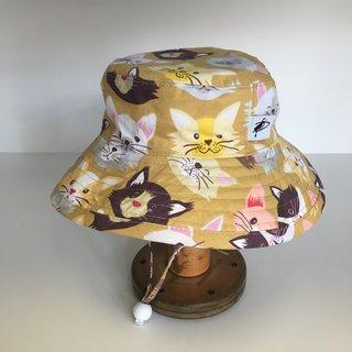 6-12m Tan Kitties Sunbaby Hat