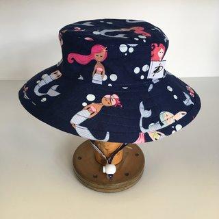 3-6m Deep Blue Mermaid Sunbaby Hat