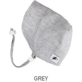 Grey Newborn Summer Day Linen Bonnet