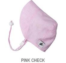 Pink Check 3-6m Summer Day Linen Bonnet