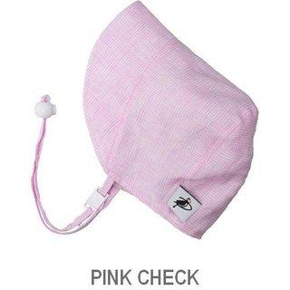Pink Check 6-12m Summer Day Linen Bonnet