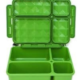 Green 5 Compartment Leakproof Foodbox