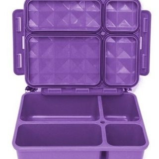Purple 5 Compartment Leakproof Foodbox
