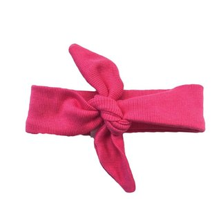 The Bright Pink Top Knot Headband