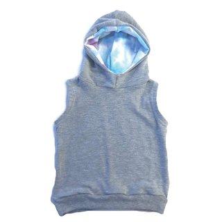 The Grey/Tie Dye Sleeveless Hoodie