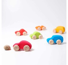 6 Multi-Coloured Cars