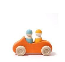 Large Orange Convertible Car