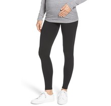Black Seamless Maternity Leggings