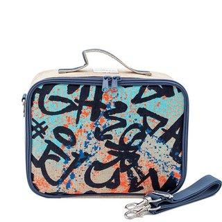 Colourful Graffiti Raw Linen Lunchbox