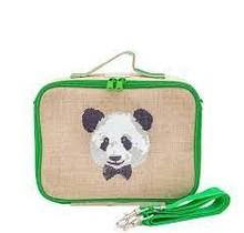 Monsieur Panda Raw Linen Lunchbox