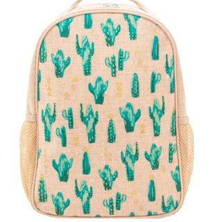 Cacti Desert Raw Linen Toddler Backpack