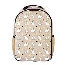 Bunny Tile Raw Linen Toddler Backpack