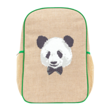 Monsieur Panda Linen Gradeschool Backpack