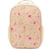 Fuschia & Gold Splatter Linen Gradeschool Backpack