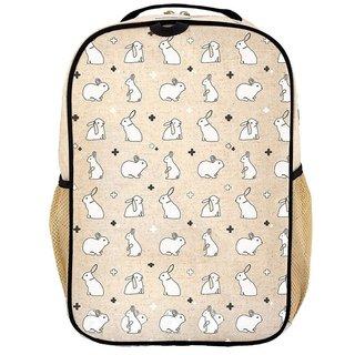Bunny Tile Linen Gradeschool Backpack