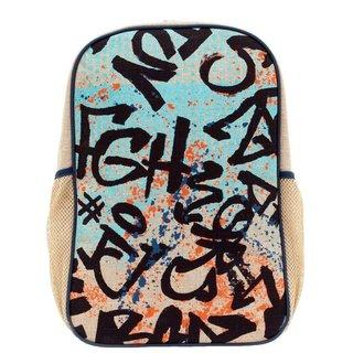 Colourful Graffiti Linen Gradeschool Backpack