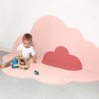 Blush Rose Head in the Clouds Large Playmat