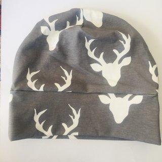 Grey Deer Slouch Beanie