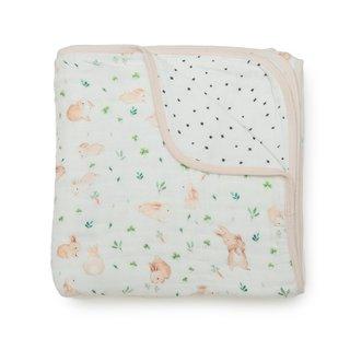 Bunny Meadow Muslin Quilt Blanket