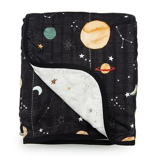 Planets Muslin Quilt Blanket