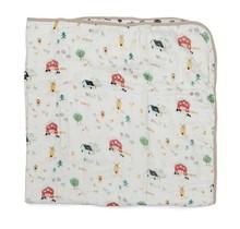 Farm Animals Muslin Quilt Blanket