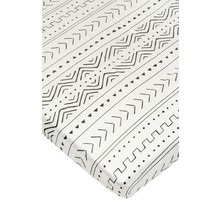 White Mudcloth Fitted Crib Sheet