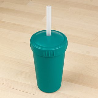 Teal Straw Cup with Lid & Straw