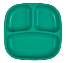 Teal Re-Play Divided Plate