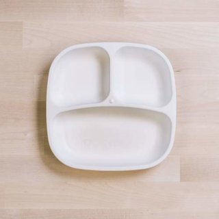 White Re-Play Divided Plate
