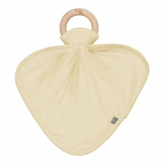 Wheat Lovey with Removable Wooden Teething Ring