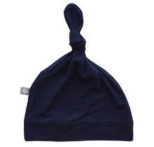 Navy Bamboo Knotted Cap