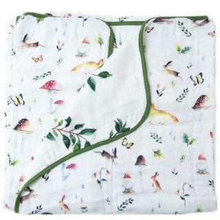 Woodland Gnome Muslin Quilt Blanket