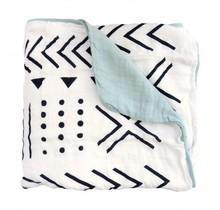 Mudcloth Muslin Quilt Blanket
