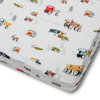 Happy Trucks Crib Sheet